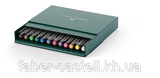 """Набор капиллярных ручек-кисточек Faber Castell PITT® ARTIST PEN  """"BRUSH""""  STUDIO BOX набор 12 цветов, 167146"""