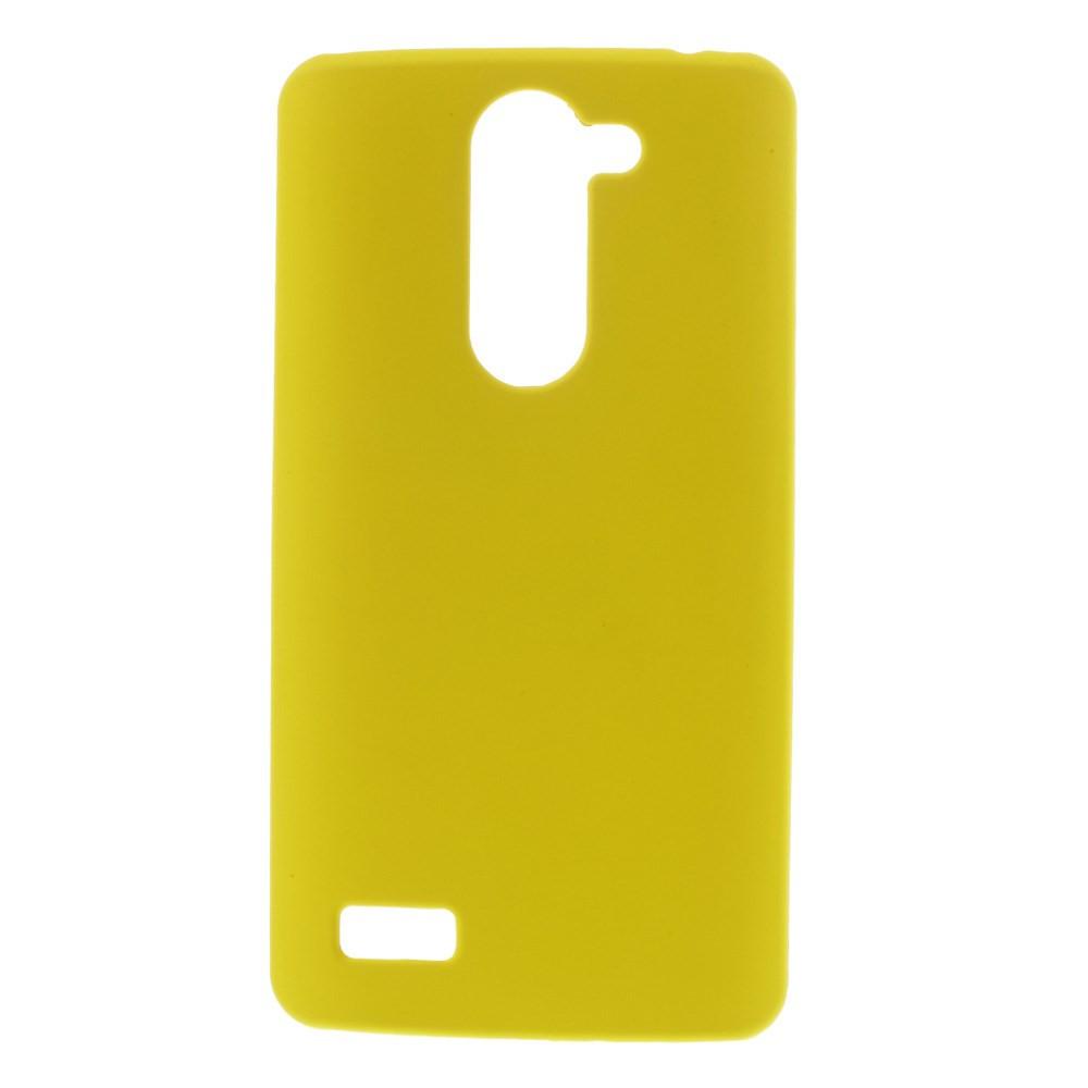 Чехол накладка пластик Rubberized дляLG L Bello Dual D335 D331 желтый