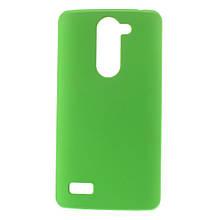 Чехол накладка пластик Rubberized для LG L Bello Dual D335 D331 зеленый