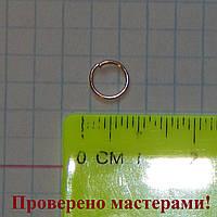 Колечко бижутерное, 7 мм, золотистое,1 шт.