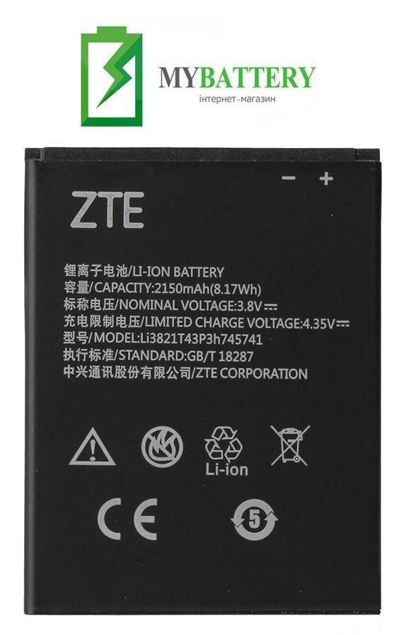 Оригинальный аккумулятор АКБ батарея ZTE Blade L5 | Blade L5 Plus | T520 | Li3821T43P3h745741 2150mAh 3.8V