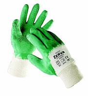 Перчатки хб с вспененым латексом СOOT (Cerva, Чехия), фото 1
