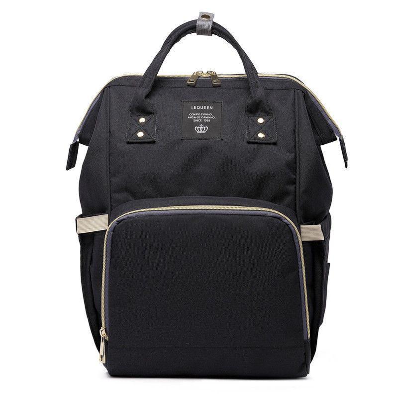 Сумка-рюкзак для мам в стиле LeQueen черная