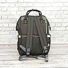 Сумка-рюкзак для мам в стиле LeQueen серая, фото 6