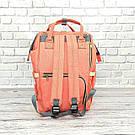 Сумка-рюкзак для мам в стиле LeQueen розовая, фото 6