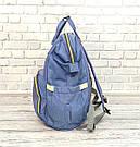 Сумка-рюкзак для мам в стиле LeQueen сиреневая, фото 6