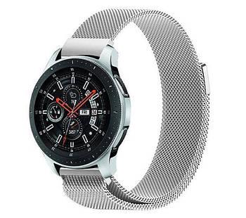 Міланський сітчастий ремінець для годинника Samsung Galaxy Watch 46 mm (SM-R800) - Silver