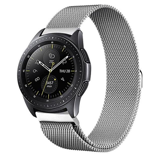 Міланський сітчастий ремінець для годинника Samsung Galaxy Watch 42 mm (SM-R810) - Silver