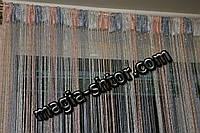 Шторы нити радуга с люрексом, фото 1
