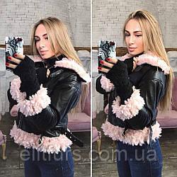 Куртка-косуха из эко-кожи с мехом + (3 цвета)