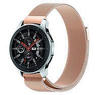 Миланский сетчатый ремешок для часов Samsung Galaxy Watch 46 mm (SM-R800) - Rose Gold