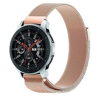 Міланський сітчастий ремінець для годинника Samsung Galaxy Watch 46 mm (SM-R800) - Rose Gold