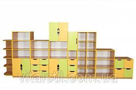Стенка НУШ для хранения дидактических материалов