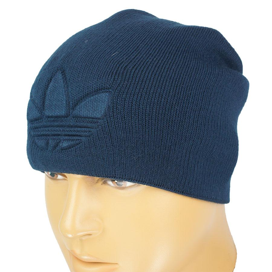 темно синяя вязаная шапка для мужчин реплика A A 18 Dblue в