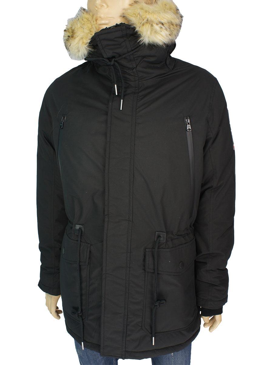 Зимняя мужская удлиненная куртка Tiger Forcen 70201IF black