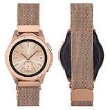 Миланский сетчатый ремешок для часов Samsung Galaxy Watch 42 mm (SM-R810) - Rose Gold, фото 3