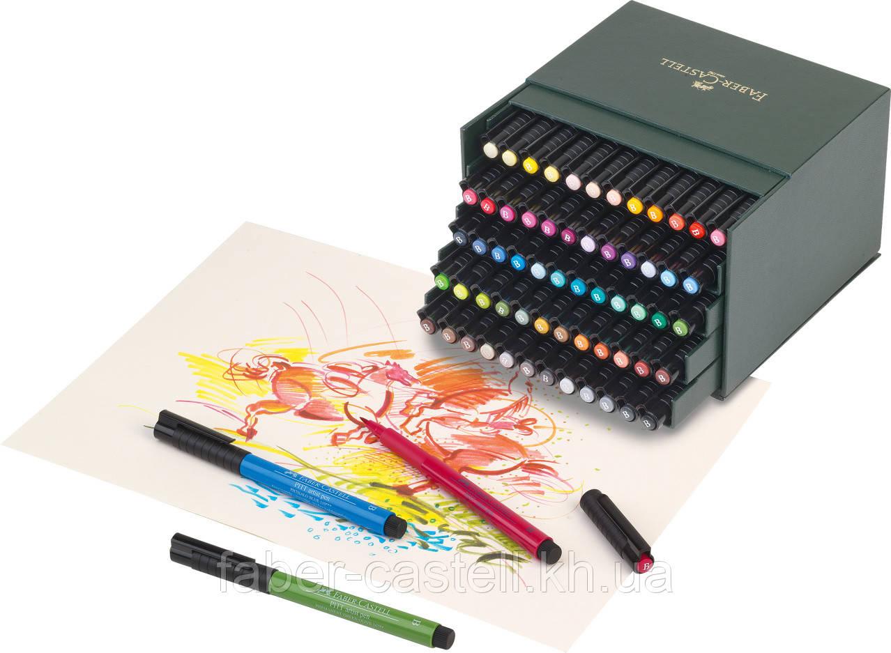 """Набор капиллярных ручек-кисточек Faber-Castell PITT® ARTIST PEN """"BRUSH"""" STUDIO BOX набор 60 цветов, 167150"""