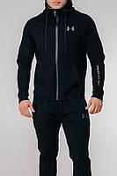 Мужской теплый спортивный костюм Under Armour черный топ реплика