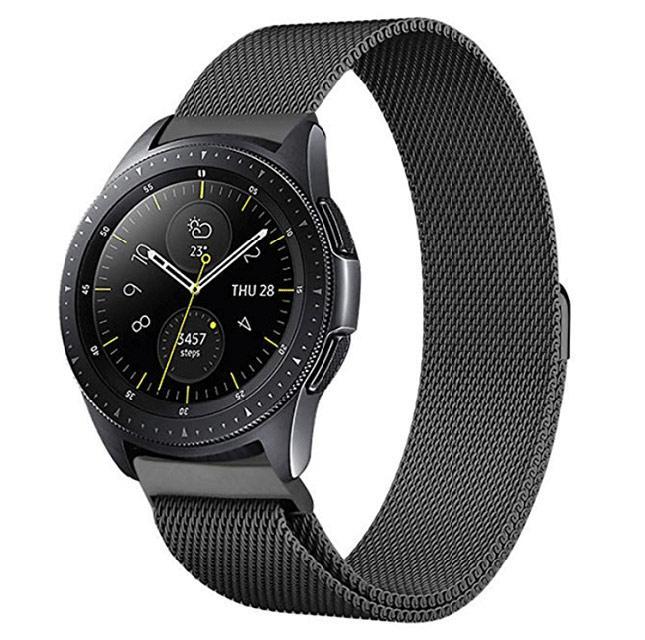 Миланский сетчатый ремешок для часов Samsung Galaxy Watch 42 mm (SM-R810) - Black