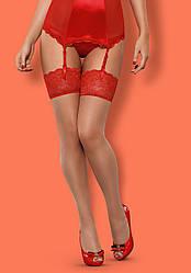 Чулки  Obsessive LOVICA stockings Красный. Польша
