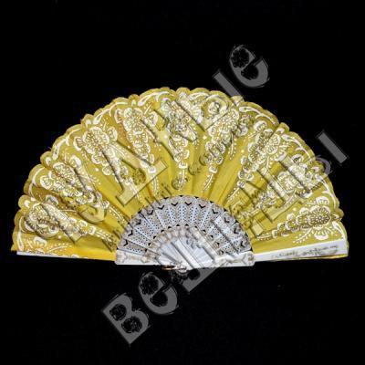 Веер с золотом желтый