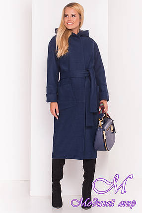Довге пальто з капюшоном, осінь весна (р. S, M, L) арт. Аніта 5325 - 37391, фото 2