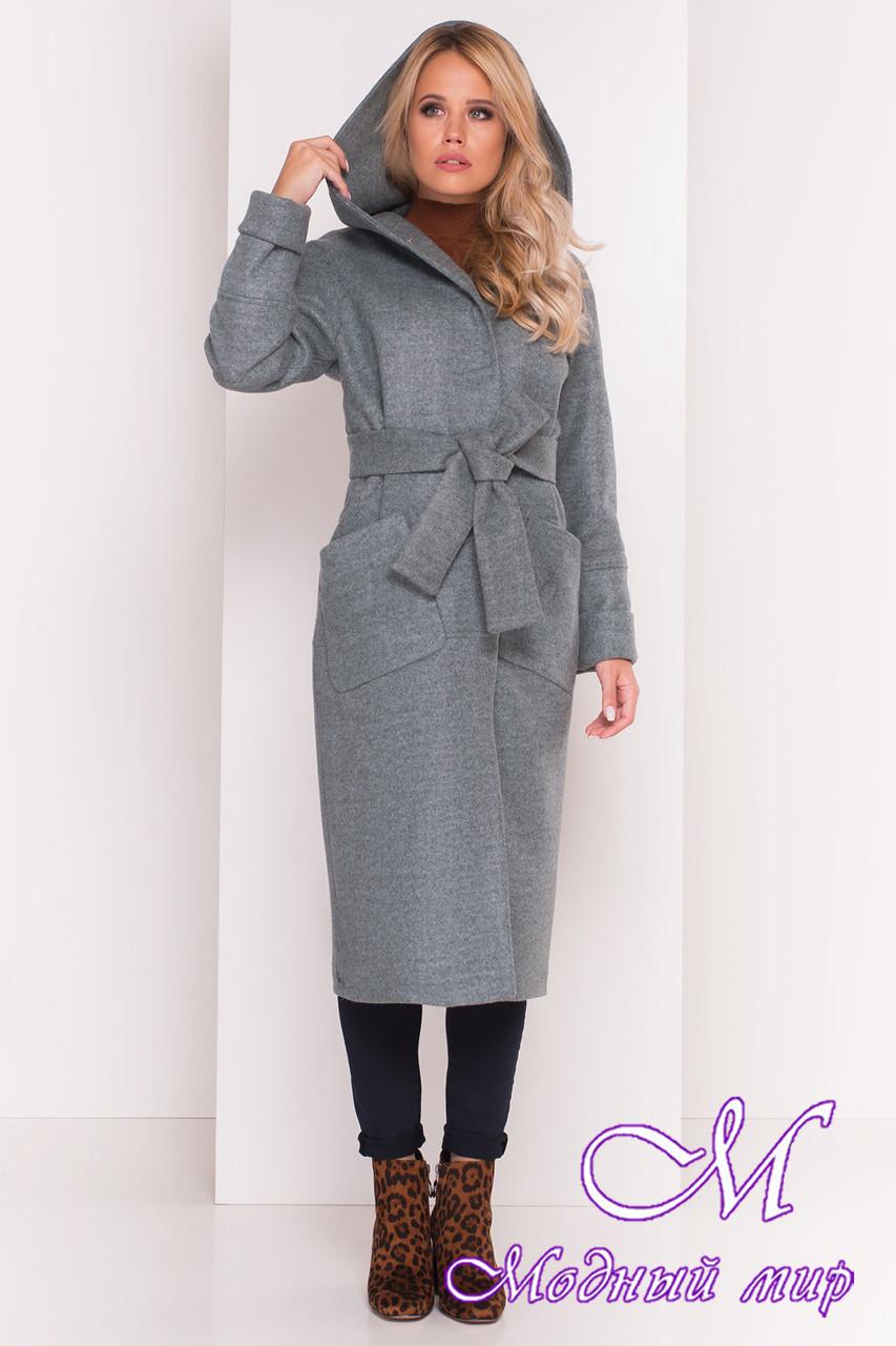 Пальто длинное с капюшоном осень весна (р. S, M, L) арт. Анита 5325 - 37332