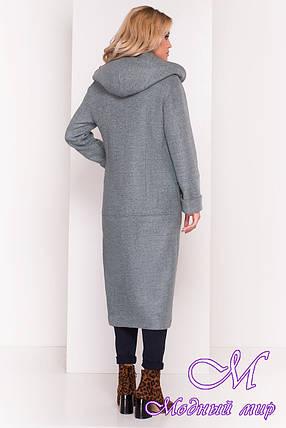 Пальто длинное с капюшоном осень весна (р. S, M, L) арт. Анита 5325 - 37332, фото 2