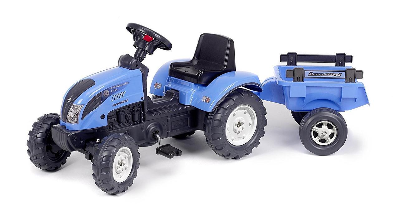 Трактор педальный с прицепом Landini blau Falk 2050С