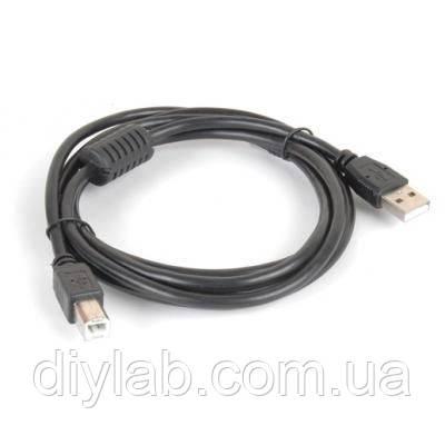 Кабель USB type A to USB type B 3м з феритом, фото 1