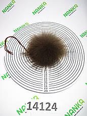 Меховой помпон Енот, 9 см, 14124, фото 2