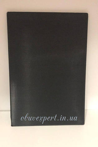 Полиуретан обувной    260х180х3 черный , рифленый, фото 2