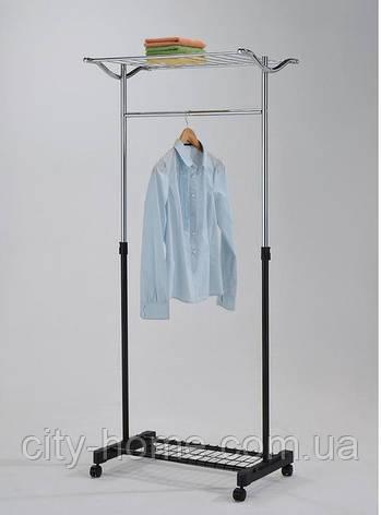 Стойка для одежды одинарная с полкой, фото 2