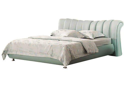 Ліжко з м'якою спинкою з підйомним механізмом Белла (160 х 200) КІМ