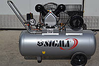 Компресор двоциліндровий ремінний 2.5кВт 396л / хв 10бар 100л Sigma