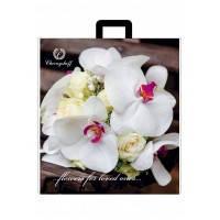 Пакет полиэтиленовый петлевая ручка 400х420 орхидея