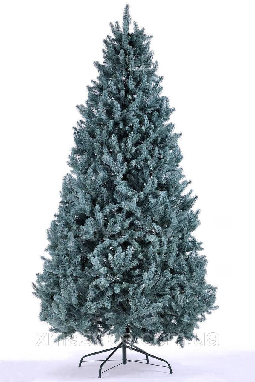 Элитная голубая искусственная елка литая 220