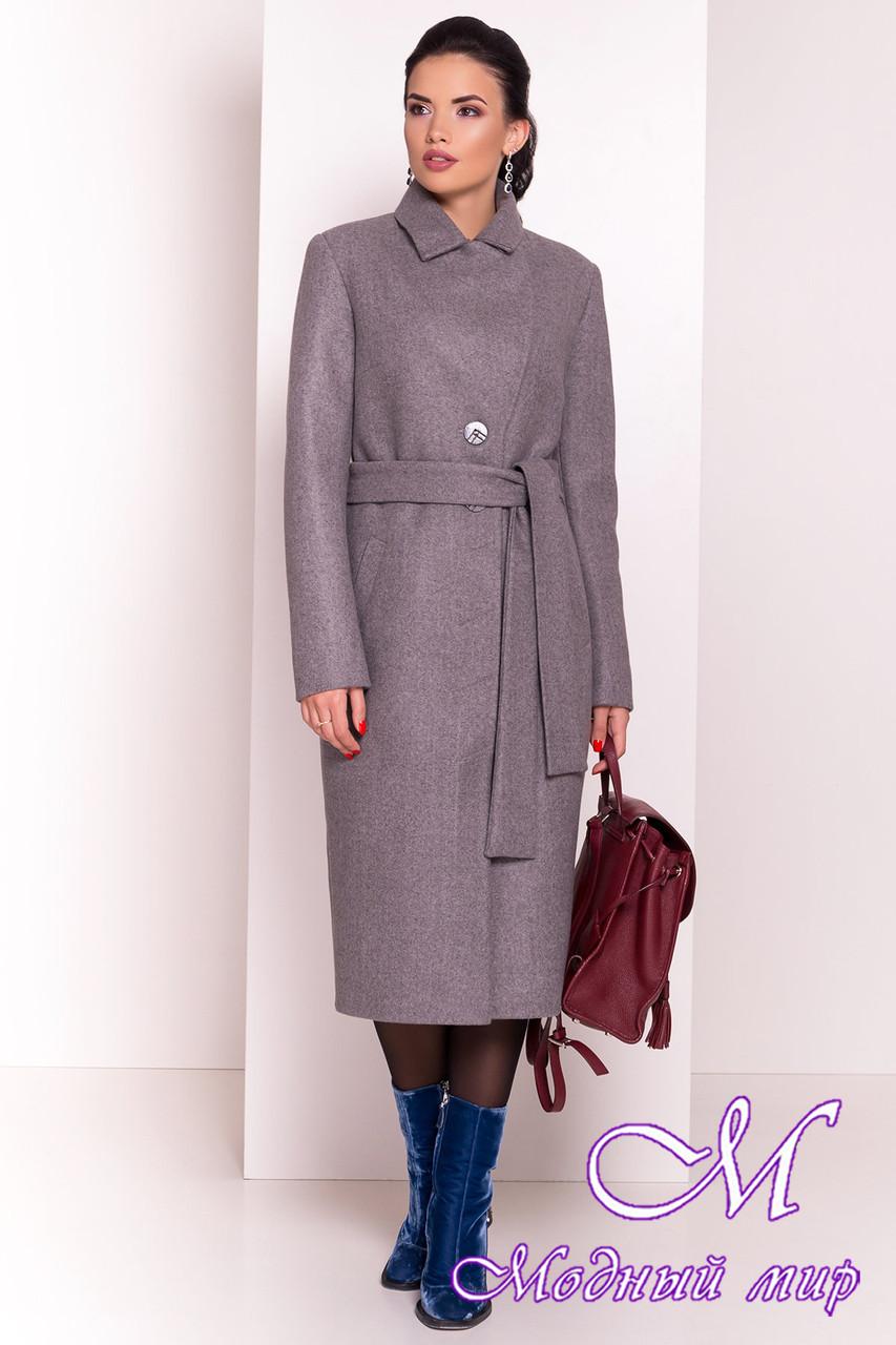 Женское длинное пальто демисезонное (р. S, M, L) арт. Габриєлла 5559 - 37426