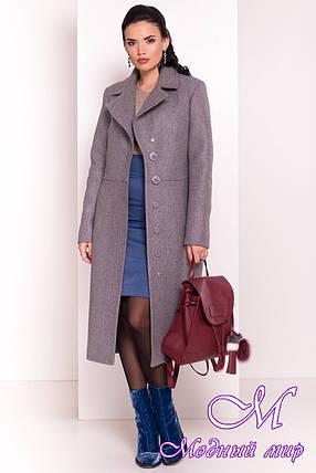 Женское длинное пальто демисезонное (р. S, M, L) арт. Габриєлла 5559 - 37426, фото 2