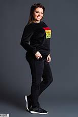 Женский спортивный бархатный костюм размеры:42-44,44-46,48-50,52-54, фото 2