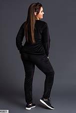 Женский спортивный бархатный костюм размеры:42-44,44-46,48-50,52-54, фото 3