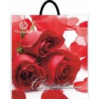 Пакет полиэтиленовый петлевая ручка 400х420 три розы от производителя с ндс