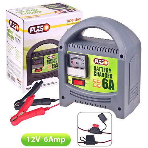 Зарядное устройство PULSO 12V/6A/20-80AH стрелка Зарядное устройство для аккумулятора авто