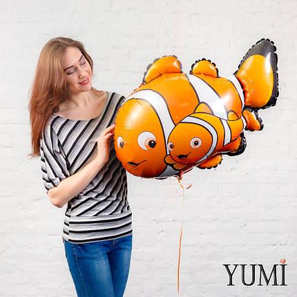 Фольгированная фигурка с гелием Рыбка немо. В Поисках Немо, фото 2
