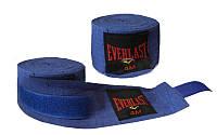 Бинты боксерские Эластан EVERLAST (l-5м, красный, синий, черный) Синий