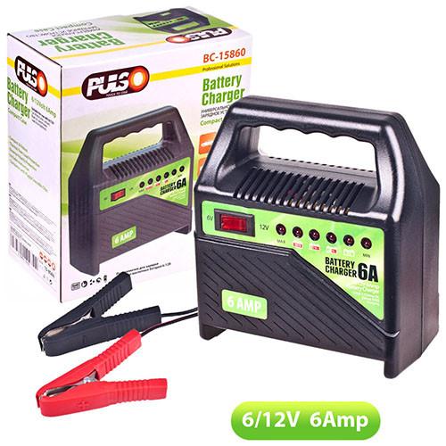 Зарядное устройство PULSO 6-12V 6A/15-80AH светодиод Зарядное устройст