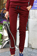 Теплые женские брюки трехнитка на флисе, фото 1