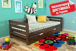 Односпальная деревянная кровать Немо (80*190 см сосна) Arbor