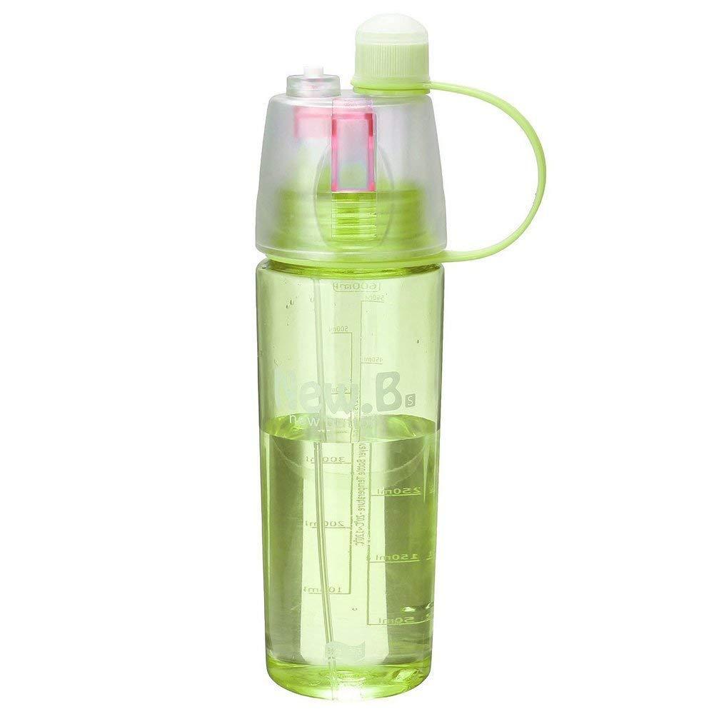 Бутылка для воды с распылителем, New.B, фитнес бутылка, 600 мл. - желто-салатовая
