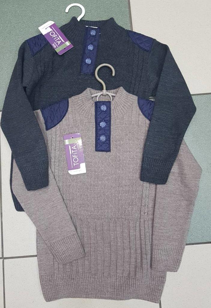 Стильный свитер для мальчика трикотаж вязка,р.110,116,122 ,128,134 Tofita kids Турция